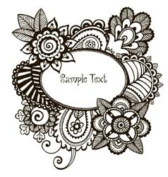 Doodle frame vector