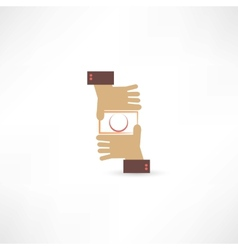 camera hands icon vector image