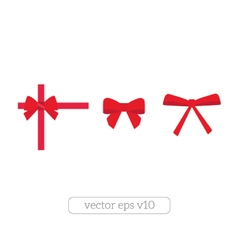 Set of red bows vector