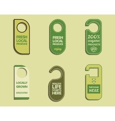 Stylish farm fresh organic brand door badge vector