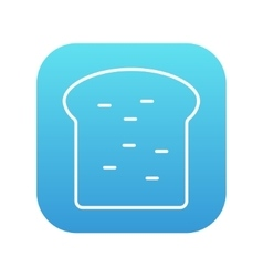 Single slice of bread line icon vector