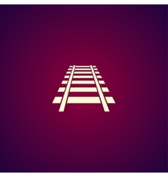 Railroad icon modern design flat style vector