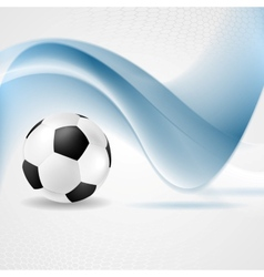 Abstract waves and football vector image vector image