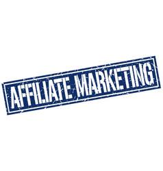 Affiliate marketing square grunge stamp vector