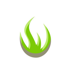 aloe vera abstract logo vector image
