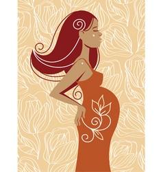 beautiful pregnant woman vector image vector image