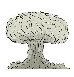 Big bomb draw vector