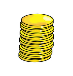 cartoon coin symbol icon design vector image