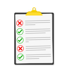 Checklist isolated vector