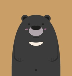 cute big asian black bear vector image vector image