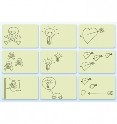Doodle business cards vector