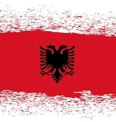 Grunge Albanian Flag vector image vector image
