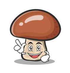 Have an idea mushroom character cartoon vector
