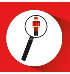 human resources searching firefighter graphic vector image
