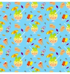 Ice cream and candies seamless pattern vector
