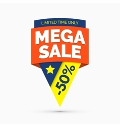 Mega sale banner limited time only vector image vector image