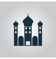 Mosque icon on yellow background vector image
