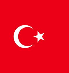 National flag republic of turkey vector