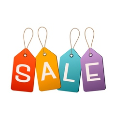 Sale tags Concept of discount shopping vector image
