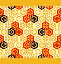 Seamless japanese kikkou pattern vector