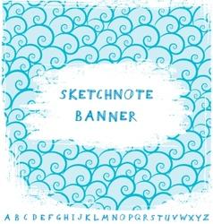 Sketchnote Banner vector image vector image