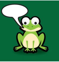 speech frog vector image vector image