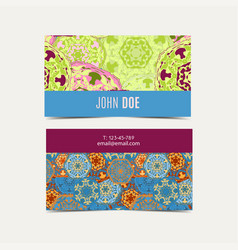 template business cards pattern with islamic vector image vector image