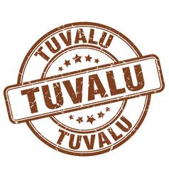 Tuvalu brown grunge round vintage rubber stamp vector