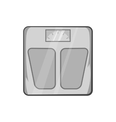 Mechanical scales icon black monochrome style vector