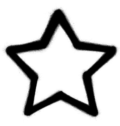 Star graffiti spray icon in black over white vector