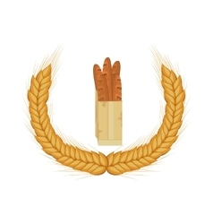 Isolated baguette design vector