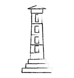 lighthouse guide ocean sketch vector image