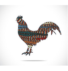 Abstract colorful rooster vector