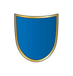 Shield gold blue icon shape emblem vector