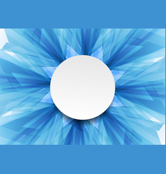 Blue bright abstract tech geometric shapes design vector
