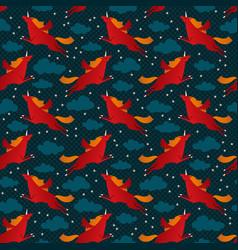 Unicorns seamless pattern vector