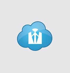 Blue cloud business wear icon vector image