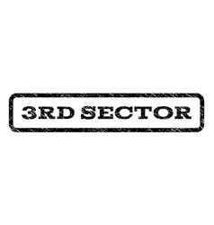 3rd sector watermark stamp vector