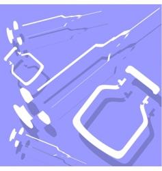 syringe vector image