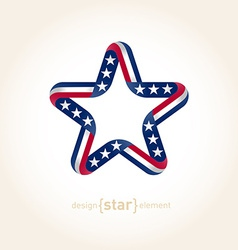 Design element star with american flag colors vector