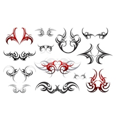 Body art tribal tattoo set vector