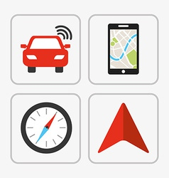 Gps icon vector