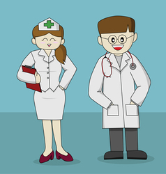 Medical staff doctor and nurse vector