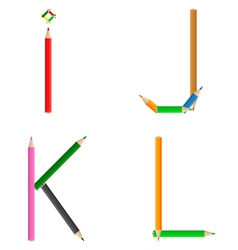Pencils alphabet vector