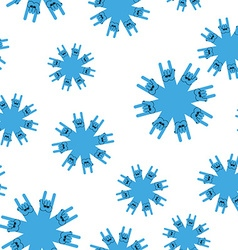 Snowflakes rock hand sign seamless patetrn rock vector