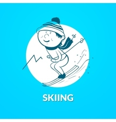 Skiing logo vector