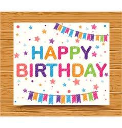 Birthday decoration background vector