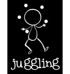 A man juggling vector image vector image