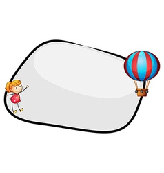 An empty template with a floating balloon and a vector image vector image