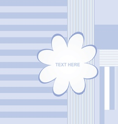 banner flower empty in blue color vector image vector image